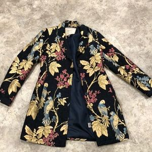 Anthropologie birds of a feather coat